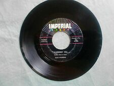 FATS DOMINO - BLUEBERRY HILL - '56 IMPERIAL/Black Label color stars!45 X5407 EX