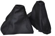 Negro Stitch Para Bmw E60 E61 Gear Freno De Mano polaina De Cuero De Cuero