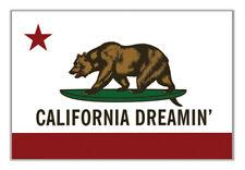 California Dreamin Bear Surfing Surfboard Flag 24x36 Poster Print Wall Art