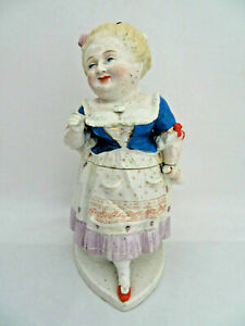 Conta & Boehme German Porcelain Female Figural Tobacco Humidor