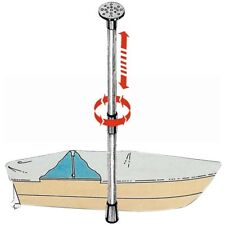 Boat Cover Support Pole Telescopic Adjustable from 75cm to 120cm. Pipe 25 / 30mm