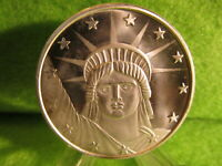 1 TROY OUNCE LADY LIBERTY SILVER ROUND BY SILVERTOWNE MINT. .999 FINE SILVER