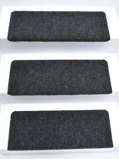 15er Set Stufenmatten Treppenmatten ANDES anthrazit RECHTECKIG ca. 65x24x4 cm