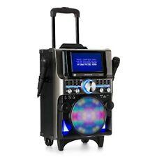 Karaoke Anlage Maschine Set CD Player TFT Display Bluetooth USB Box