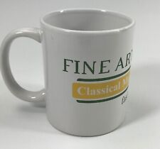 Fine Arts Society Classical Music Wicr 88.7 Indianapolis White Coffee Mug Cup