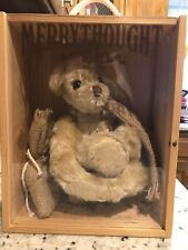 "Merrythought ""Stowaway"" Mohair Bear Made In England with tags Jk 100"
