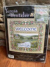 Teresa Wentzler Counted Cross Stitch kit ENGLISH GARDEN WELCOME