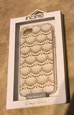 "INCIPIO Design Series Metallic Clear Case iPhone 7 4.7"" NEW Boho Lace"