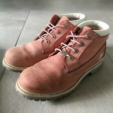 TIMBERLAND Pink Boots Womens Size UK 7.5 | US 9.5 Suede Upper Lace Casual Shoes