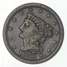 1853 Braided Hair Half Cent - Jefferson Coin Collection *728