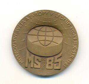 1985 Praha Czechoslovakia World Ice Hockey Championships participant medal