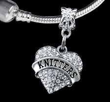 Knitter charm knitters gift Knitter charm Knit charm Knitting charm Knit gift