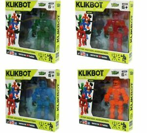 Zing KLIKBOT 4 Pack Includes All 4 Heroes Kid Toy Action Figures Gift Christmas