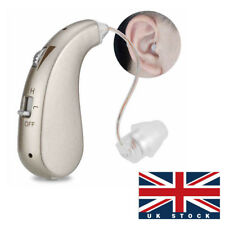 BTE Digital Hearing Aid Rechargeable Amplifiers Severe Loss Invisible High-Power