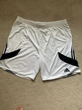 New Mens Size XL Adidas Black/White Climalite Basketball Shorts With Draw String
