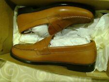 BASS SIZE 9.5 D WALTER PENNY LOAFER DRESS/CASUAL ALL LEATHER TAN
