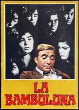 brochure originale cinema LA BAMBOLONA f. giraldi 1968