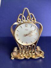 Vintage Swiss Imhof Brass Desk Mantel Shelf Clock 15 Jewels Number 745963