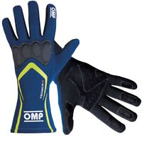 FIA OMP Race Gloves TECNICA-S Racing Rally BLUE/YELLOW XS S M L XL Tecnica S