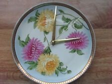 Antique Shabby Chic Decorative Plate Made Into A Working Clock