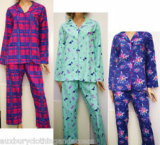 Winceyette 100%Soft Brushed Cotton Pyjamas,Hedgehogs+Various Prints size10 to 22