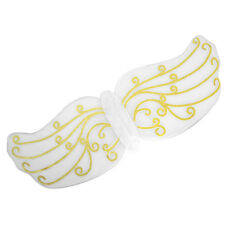 WHITE ANGEL WINGS WITH GOLD PATTERN FANCY DRESS ACCESSORY