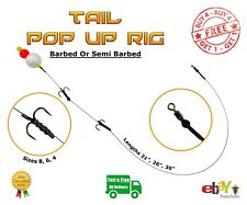 Tail Pop Up wire Trace BUY 4 GET 1 FREE Pike Carp Fishing Dead Bait