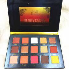15 Color Eyeshadow Palette Pressed Highlighter Powder Glitter Sunset Eyeshadow
