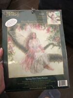"""SPRING TREE FAIRY Cross Stitch Kit Embellished Mary Baxter St Clair CANDAMAR 14"""""""