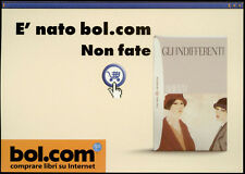 cartolina pubblicitaria PROMOCARD n.2231 BOL.COM SITO VENDITA LIBRI