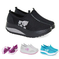 Women High Platform Shoes Shape Ups Toning Fitness Sport Walking Sneakers Sizes