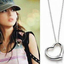 1pcs Charm Korean Silver Peach Love Hollow Heart Pendant Necklace Gift Lover HOT