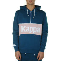 Kappa Authentic 90 Barna Felpa Uomo 304RM40 928 Blue Petrol Pink
