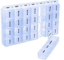 NuValu Home 7 Day Medicine Pill Box Planner With 28 Small Compartment NEW