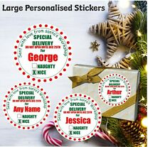 24 Large Personalised Special Delivery Christmas Stickers Christmas Labels