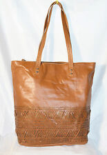 The SAK leather Large tote Handbag brown