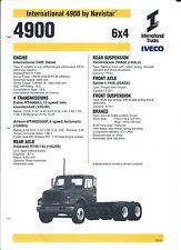 Truck Brochure - International - 4900 6x4 - Navistar (Australia) (T1974)