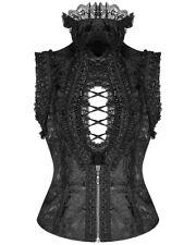 Punk Rave Pyon Gothic Sleeveless Blouse Top Vest Black Brocade Steampunk Lolita