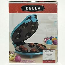 CAKE POP DONUT HOLE MAKER Bella Kitchen Model 13547 Boxed Blue Turquoise NEW