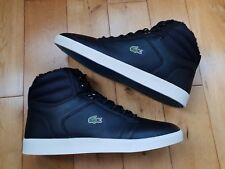 072280f10585 Lacoste Orelle PUT SPM Mens Leather Hi Tops Trainers Boots UK 12 EU 47 Rare