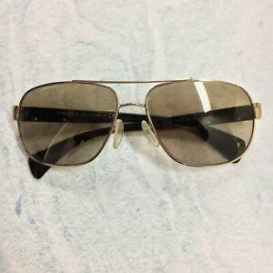 Prada Tortoiseshell & Gold Metal Aviator Sunglasses