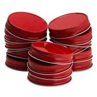 24 Packs Mason Jar Lids Regular Mouth Leak Proof Secure Mason Storage SolidB3B7