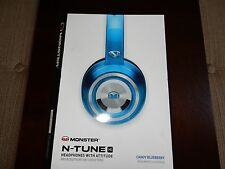 Monster N-Tune HD Colour it Loud On Ear Headphones - Blue (NEW, READ) #M197