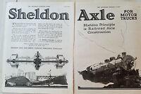 1919 Sheldon Axle Spring Company Railroad Construction For Motor Trucks Ad