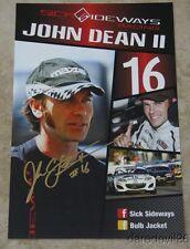 2015 John Dean II signed Sick Sideways Racing IMSA Mazda MX-5 Cup postcard