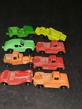 Vintage Tootsie Toy Die Cast Trucks, Cars Lot of (8) 1950's excellent condition