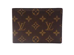 Authentic LOUIS VUITTON Monogram Photo Case Holder Browns Vintage