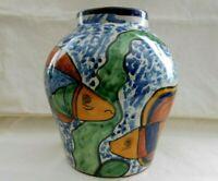 """Talavera Mexico Pottery T. Ruth Large Wall Pocket Vase🏺9 1/2"""" T x 8 1/2"""" W w1s2"""