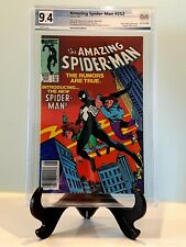 Amazing Spider-Man #252 PGX 9.4 KEY 1st Black Suit (Not CGC) Marvel Comics 1984