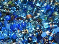 NEW 4/oz GLASS, Gem, Stone 6-15mm DARK BLUES MIXED LOOSE BEADS LOT (hC9)